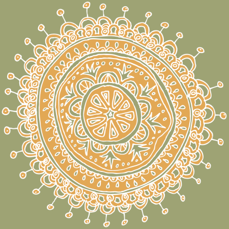 fruit mandala 2 color