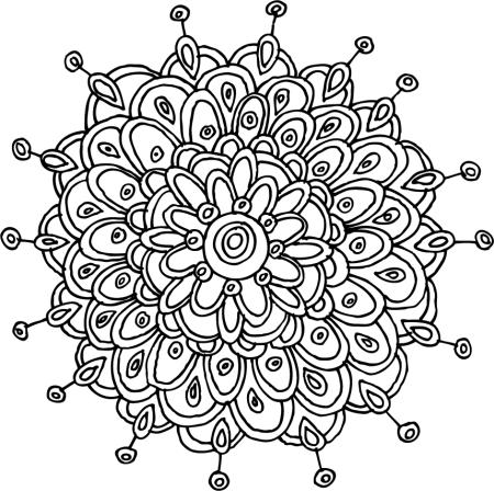 zinnia mandala