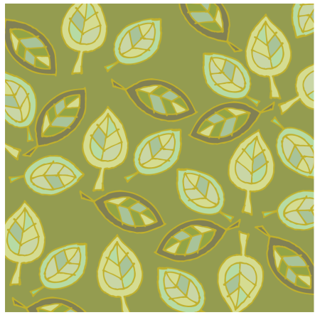 leaves green outline